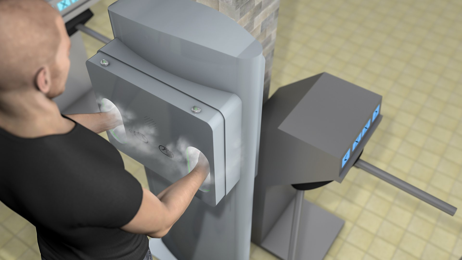wenglor sensoric - Palm Detection in Disinfectant Dispenser by Reflex Sensors
